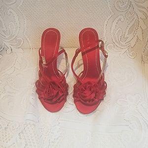 Nine West Red satin high heels
